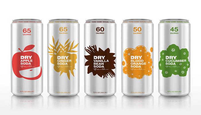 DRY Soda 12 oz. Slim Cans