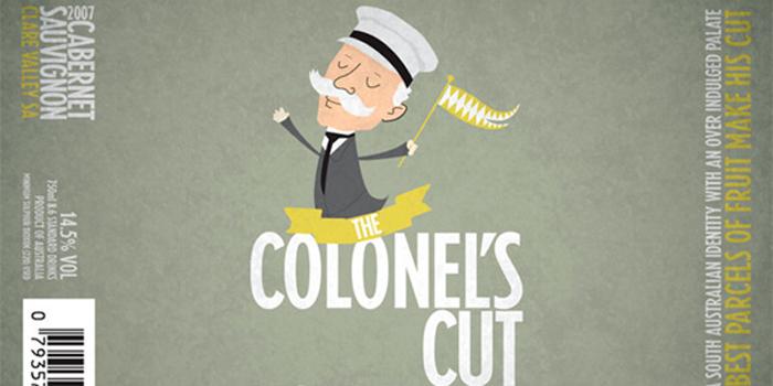 Colonel's Cut Wine Label