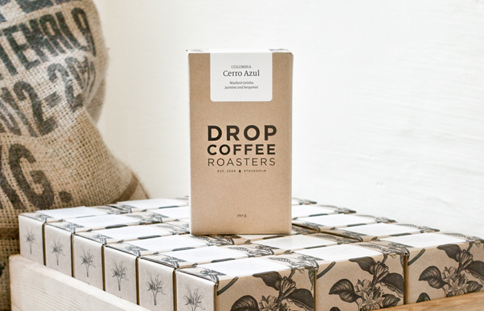 Drop Coffee Roasters Daily Package Design