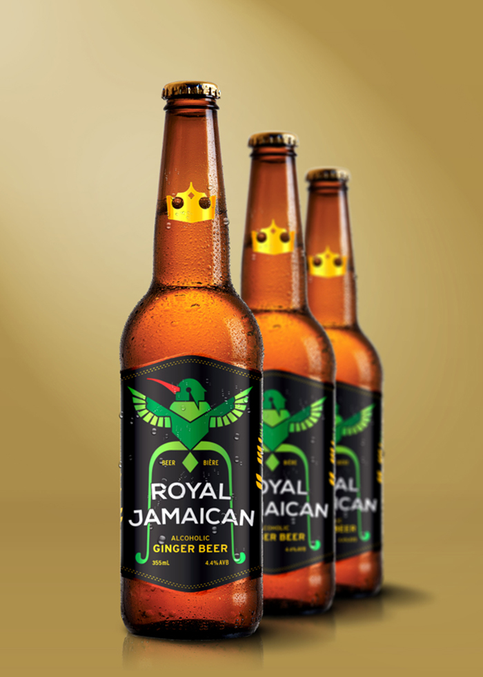 royal jamaican ginger beer daily package design