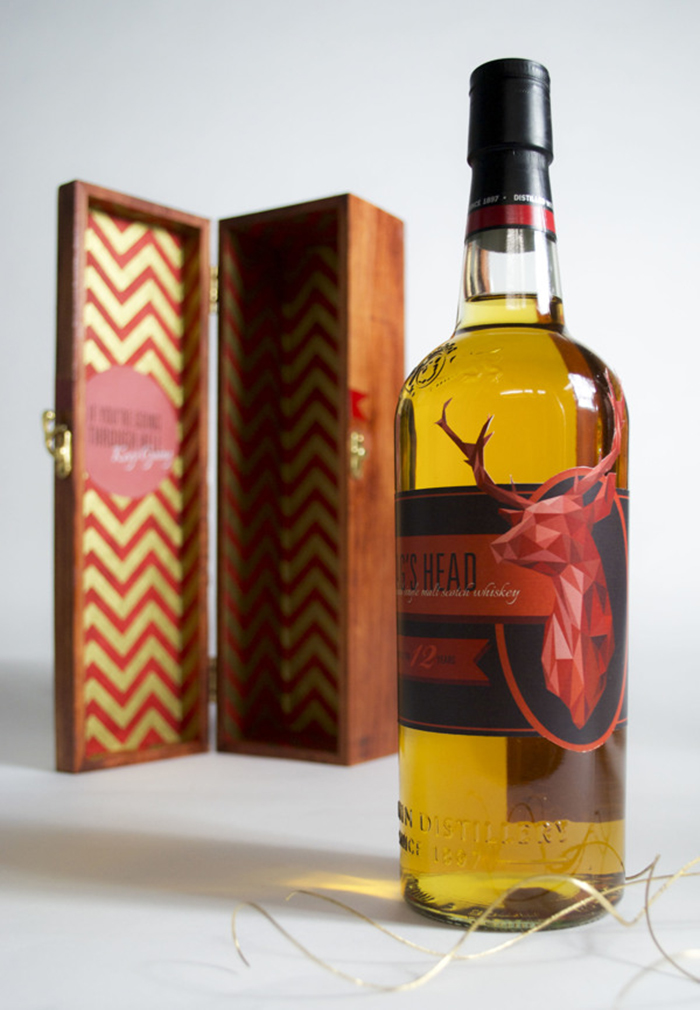 Stag's Head Scotch Label