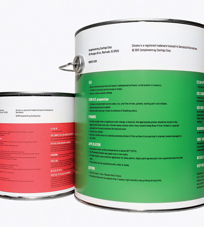 Chroma painting supplies daily package design for Chroma mural paint