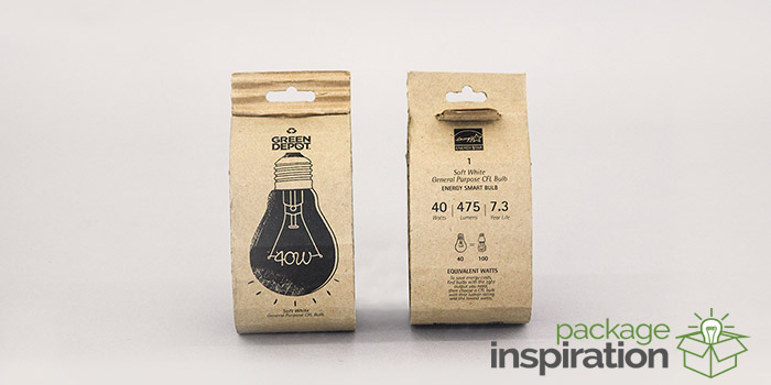 Eco Friendly Light Bulb Packaging Daily Package Design