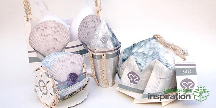 She Shell Lingerie Daily Package Design Inspirationdaily Package Design Inspiration