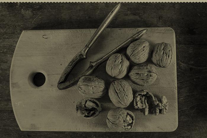 Autumn fruits: walnuts