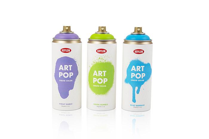 krylon art pop spray paint daily package design. Black Bedroom Furniture Sets. Home Design Ideas