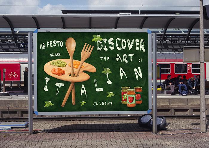9 pesto mockup billboard