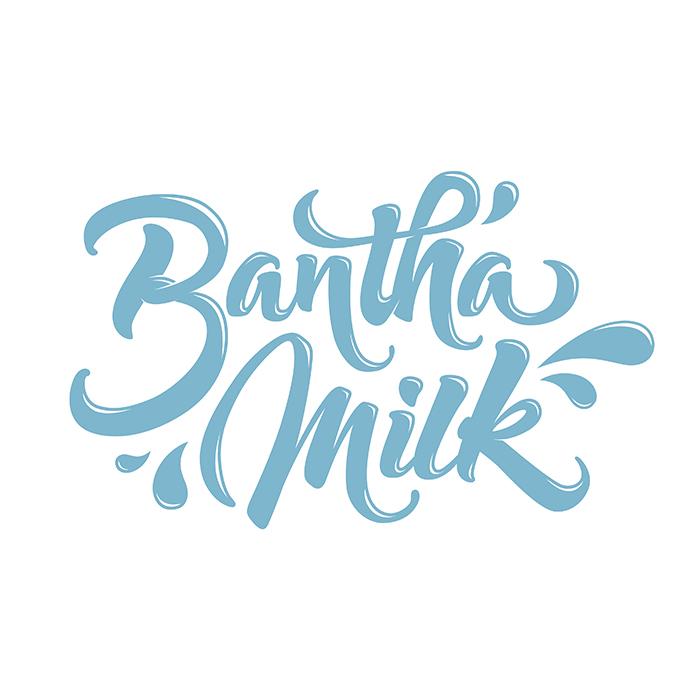 Bantha Milk Lettering