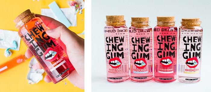 chewing gum rosé